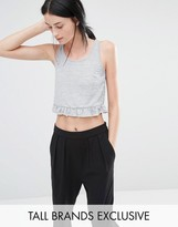 One Day Tall Tee Frill Hem Tank