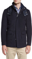 Peter Millar Tempest All-Weather Hooded Jacket, Barchetta Blue
