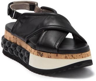 AGL Softy Slide Braided Platform Sole Sandal