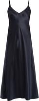 Helmut Lang Ruffled-back silk-satin cami dress