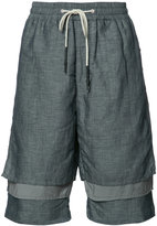 Mostly Heard Rarely Seen layered shorts - men - Linen/Flax/Nylon - M