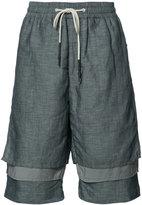 Mostly Heard Rarely Seen layered shorts - men - Linen/Flax/Nylon - S