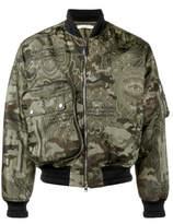 Givenchy Camo-print Bomber Jacket - Green - Size IT56