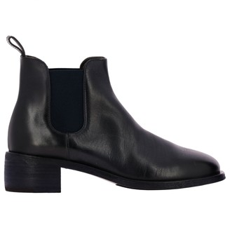 Marsèll Scalpellino Leather Slip On Ankle Boots