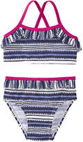 Joe Fresh Baby Girls' x lemlem Ruffle Bikini, Blue (Size 18-24)