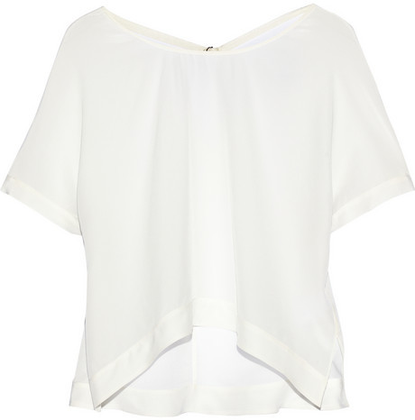 Elizabeth and James Gale silk-chiffon top