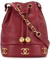 Chanel Pre Owned 1992 CC logo bucket bag