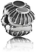 Pandora Silver and Black Enamel Oyster Clip Charm 790578EN16