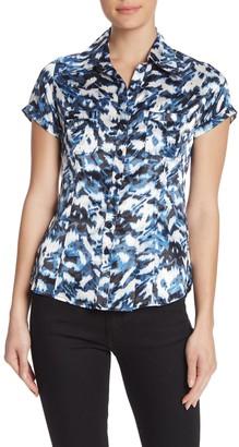 Vertigo Satin Button Front Shirt