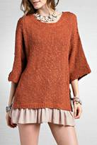 Easel Slouchy Ruffle Sweater