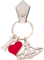 Vivienne Westwood 'I heart' logo keyring - unisex - Leather/metal - One Size