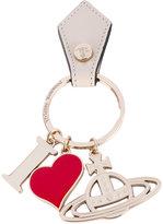 Vivienne Westwood 'I heart' logo keyring - unisex - metal/Leather - One Size
