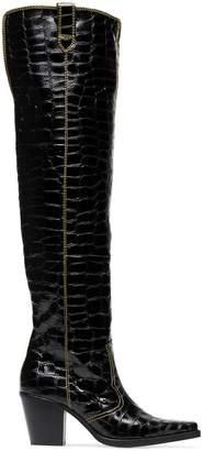 Ganni nadine 75 thigh high boots