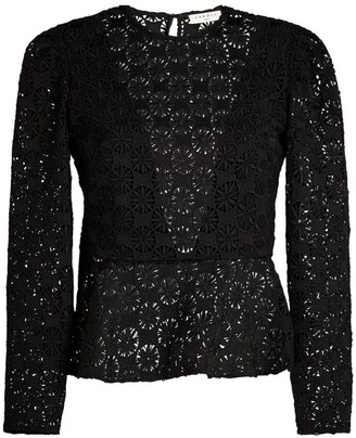 Sandro Paris Guipure Lace Top
