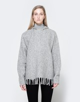 Alexander Wang Hooded Pullover With Fringe