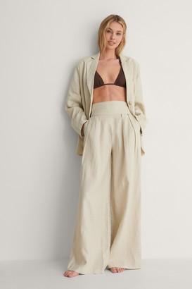 NA-KD Linen Detail Waist Pants