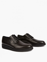 Marni Black Leather Oxford Shoes