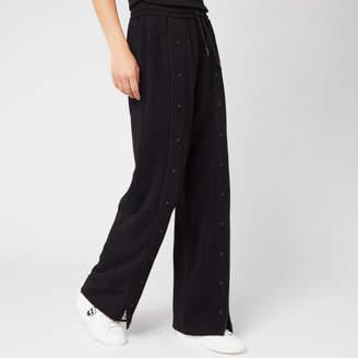 Karl Lagerfeld Paris Women's Wide Leg Snap Pants with Logo