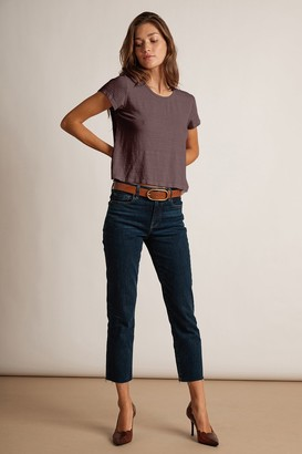 Velvet by Graham & Spencer Karolina Hi Rise Straight Leg Cut Off Jeans