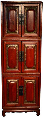 One Kings Lane Vintage Antique Stacking Cabinets - Set of 3 - FEA Home