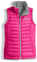 The North Face Girls' Reversible Mossbud Swirl Vest, Pink, Size XXS-XL