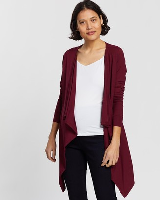 Angel Maternity Women's Red Cardigans - Waterfall Cardigan - Size One Size, XS at The Iconic