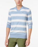 Tommy Hilfiger Men's Striped V-Neck Sweater