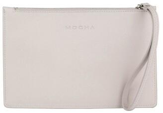 Mocha Small Jane Leather Clutch -
