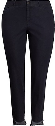 Lafayette 148 New York, Plus Size Mercer Step-Hem Skinny Jeans