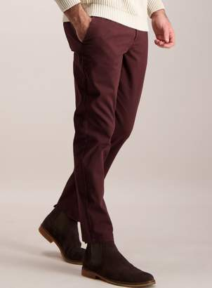 Tu Burgundy Slim Fit Chinos with Stretch