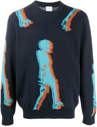 Paul Smith Crew Neck Abstract Knitted Jumper
