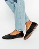 Vagabond Ayden Flat Satin Shoes