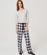 LOFT Plaid Sleep Pants