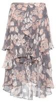 Jason Wu Ruffled printed silk skirt