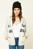 Forever 21 FOREVER 21+ Feelin Good Zip-Up Hoodie