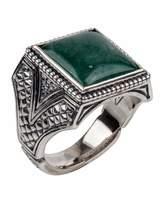 Konstantino Men's Sterling Silver & Aventurine Signet Ring