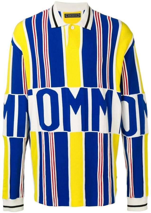 Tommy Hilfiger striped logo polo jumper
