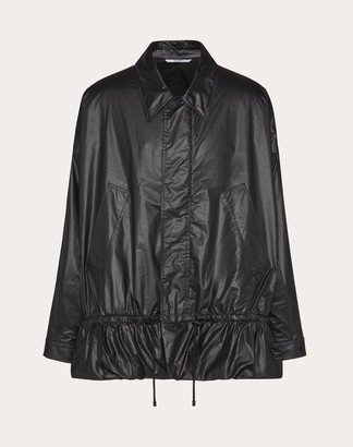 Valentino Collection Cropped Quilted Jacket Man Black Polyester 30% 44