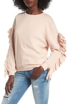 BP Women's Ruffle Sleeve Sweatshirt