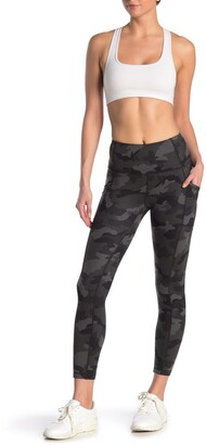 90 Degree By Reflex Yogalicious Lux Camo High Waisted Side Pocket Leggings