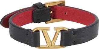 Valentino Logo Leather Bracelet