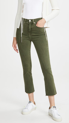 Veronica Beard Jeans Carly High Rise Kick Flare Jeans with Raw Hem