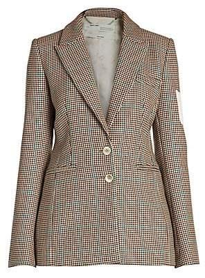 Off-White Women's Check Wool Slim Blazer Jacket