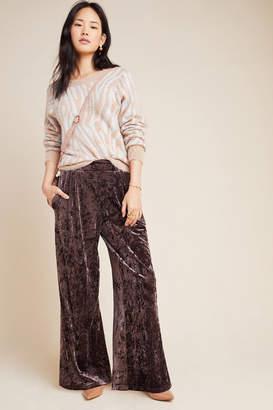 Greylin Tamara Velvet Wide-Leg Trousers
