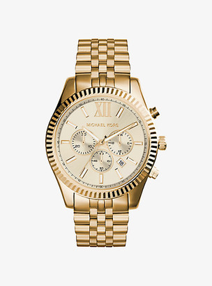 Michael Kors Lexington Gold-Tone Watch