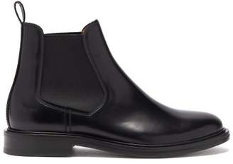 A.P.C. Johanne Leather Chelsea Boots - Womens - Black