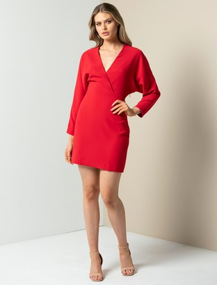 Forever New Zanthe Batwing Mini Dress - Red - 10