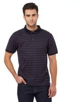 J By Jasper Conran Purple Striped Print Textured Polo Shirt