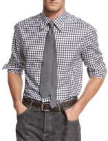 Brunello Cucinelli Check Cotton Oxford Shirt