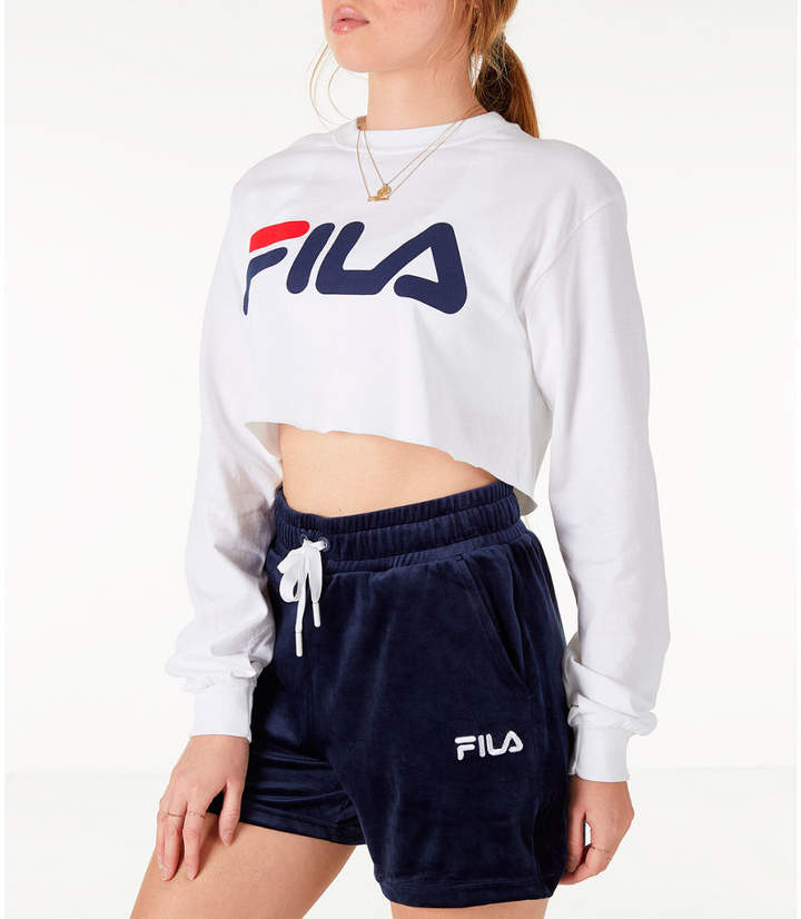 Fila Women's Colette Long-Sleeve Crop T-Shirt